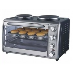 HORNO ELECTRICO 54LTS RANSER C/CONVECCION Y Anafes 2000W HE-RA54AF